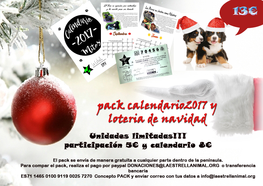 Pack calendario+participación