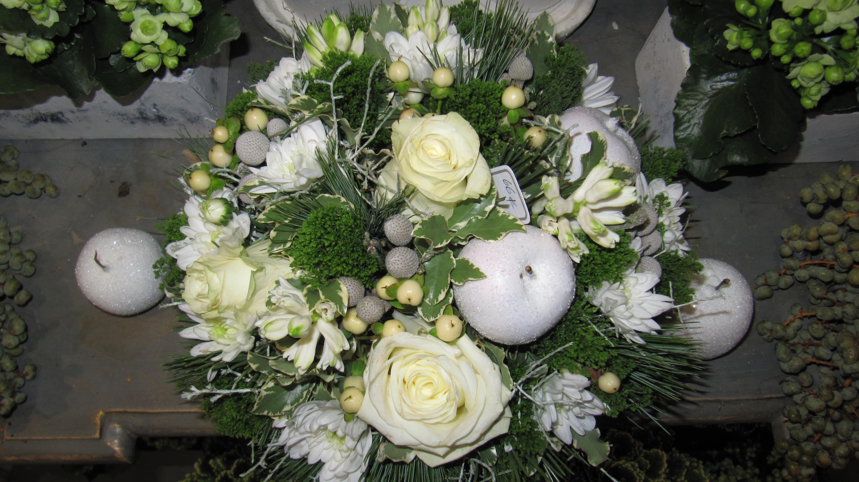 Bouquet vert/blanc