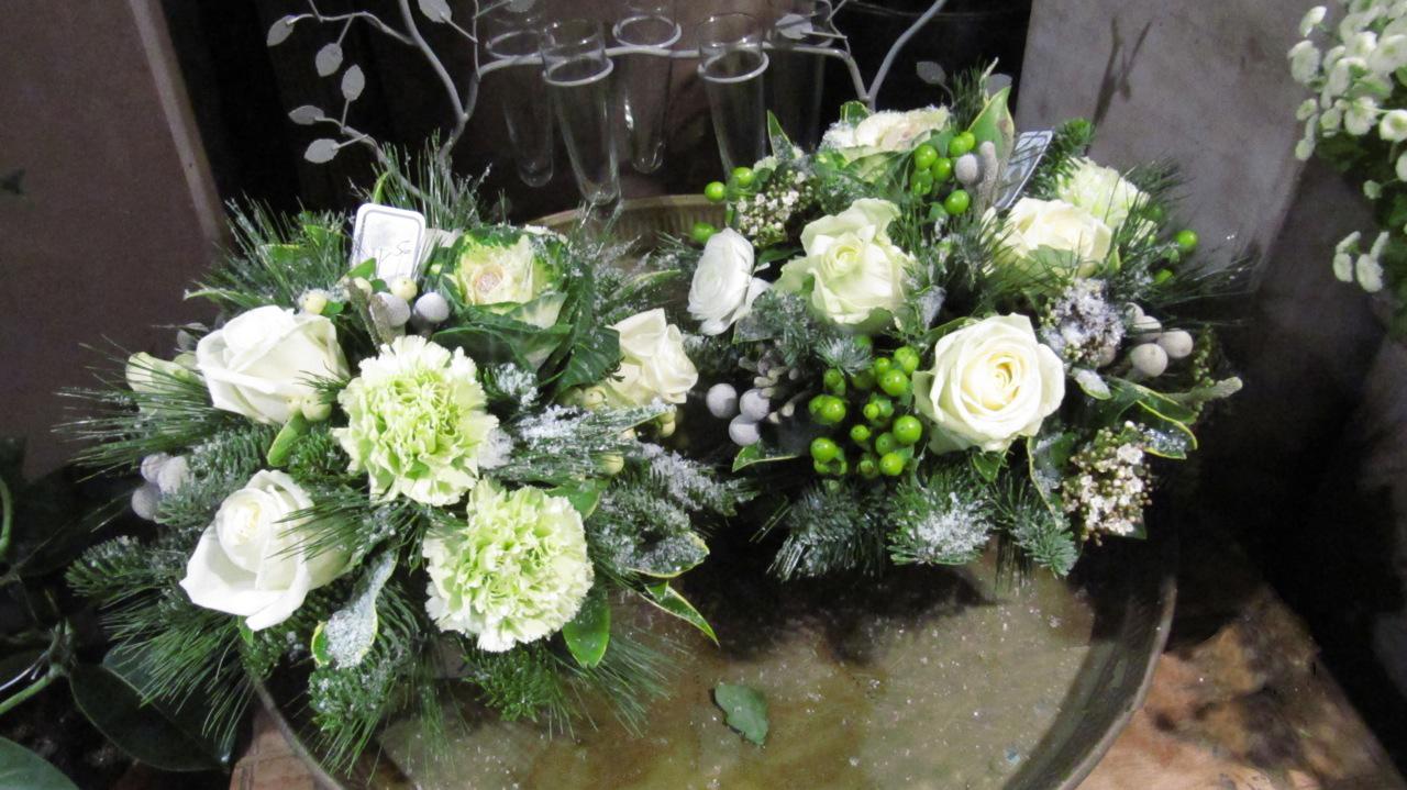 Bouquet blanc et vert (BN-3)