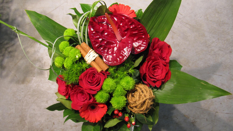 Bouquet exotique rouge