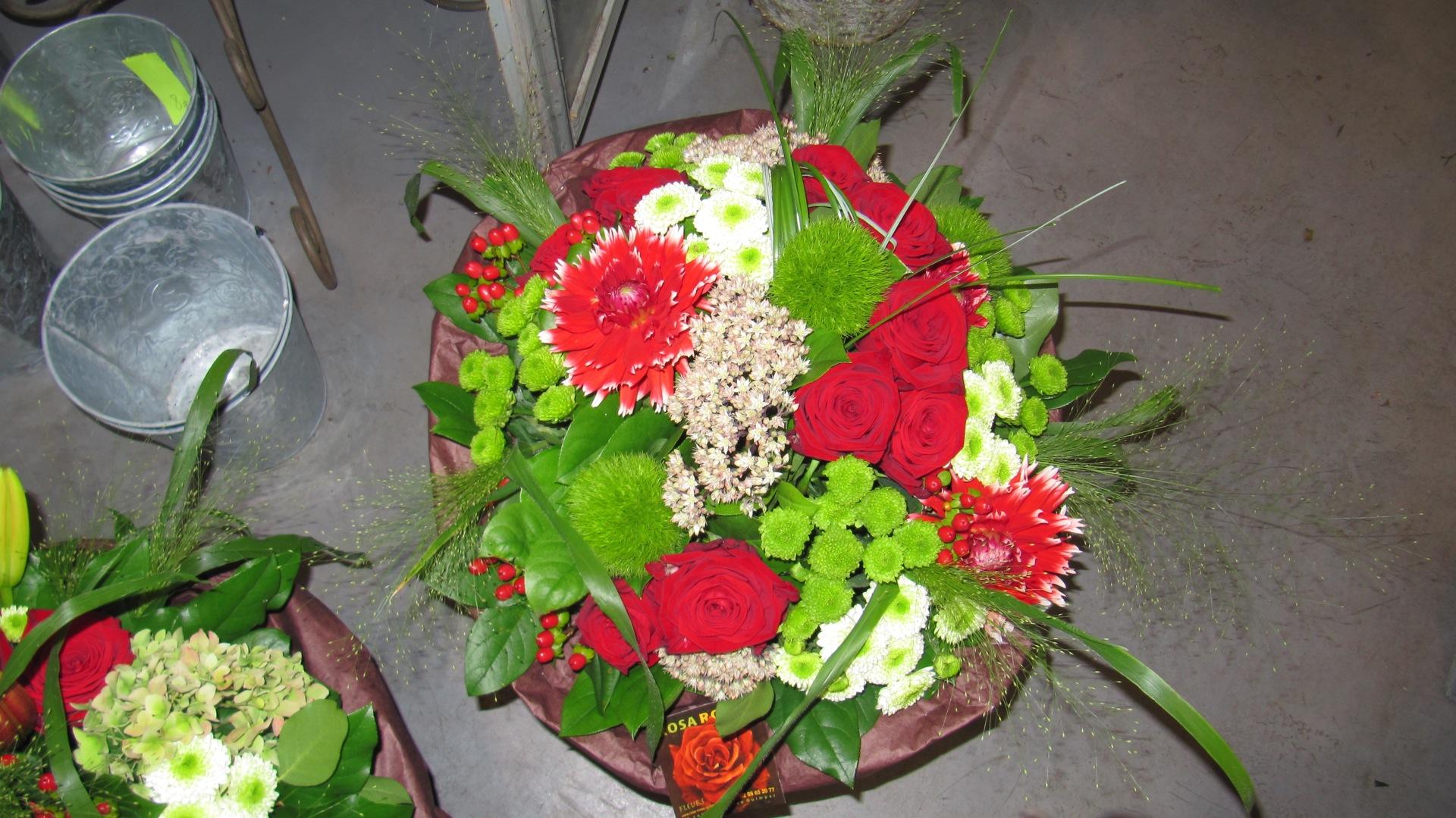 Bouquet rouge et vert