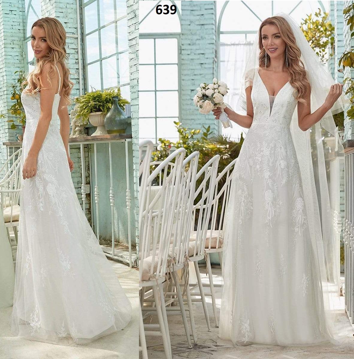 Vestido Novia Largo 639 talla 38