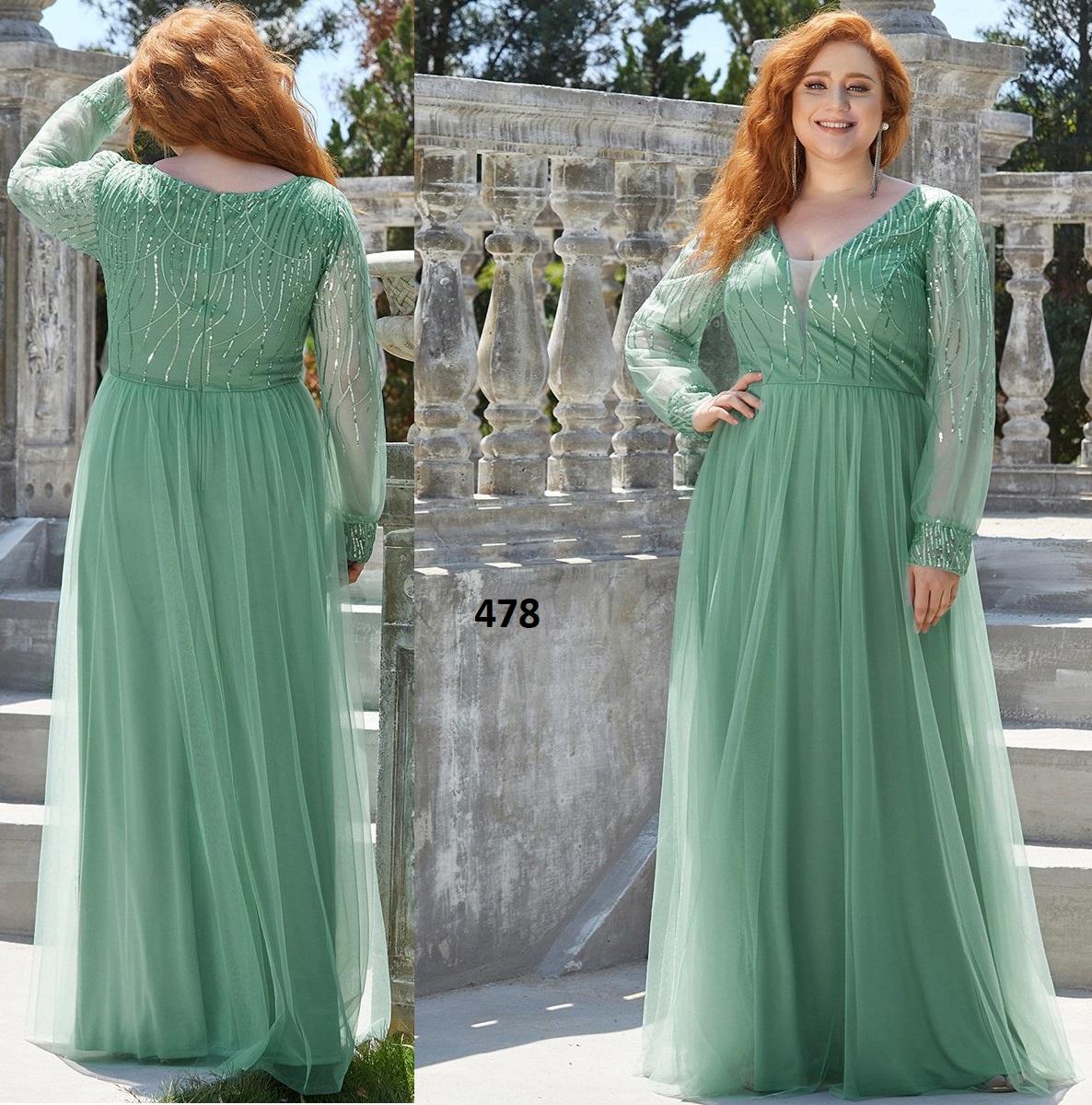 Adorable una línea de cuello en V vestidos de mujer 478