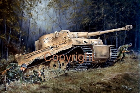 Tiger Panzer m,it Grenadieren der 13. Panzerdivision