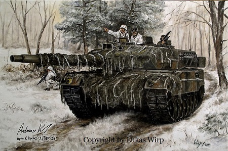 Leopard 2 A6 Wintermanöver