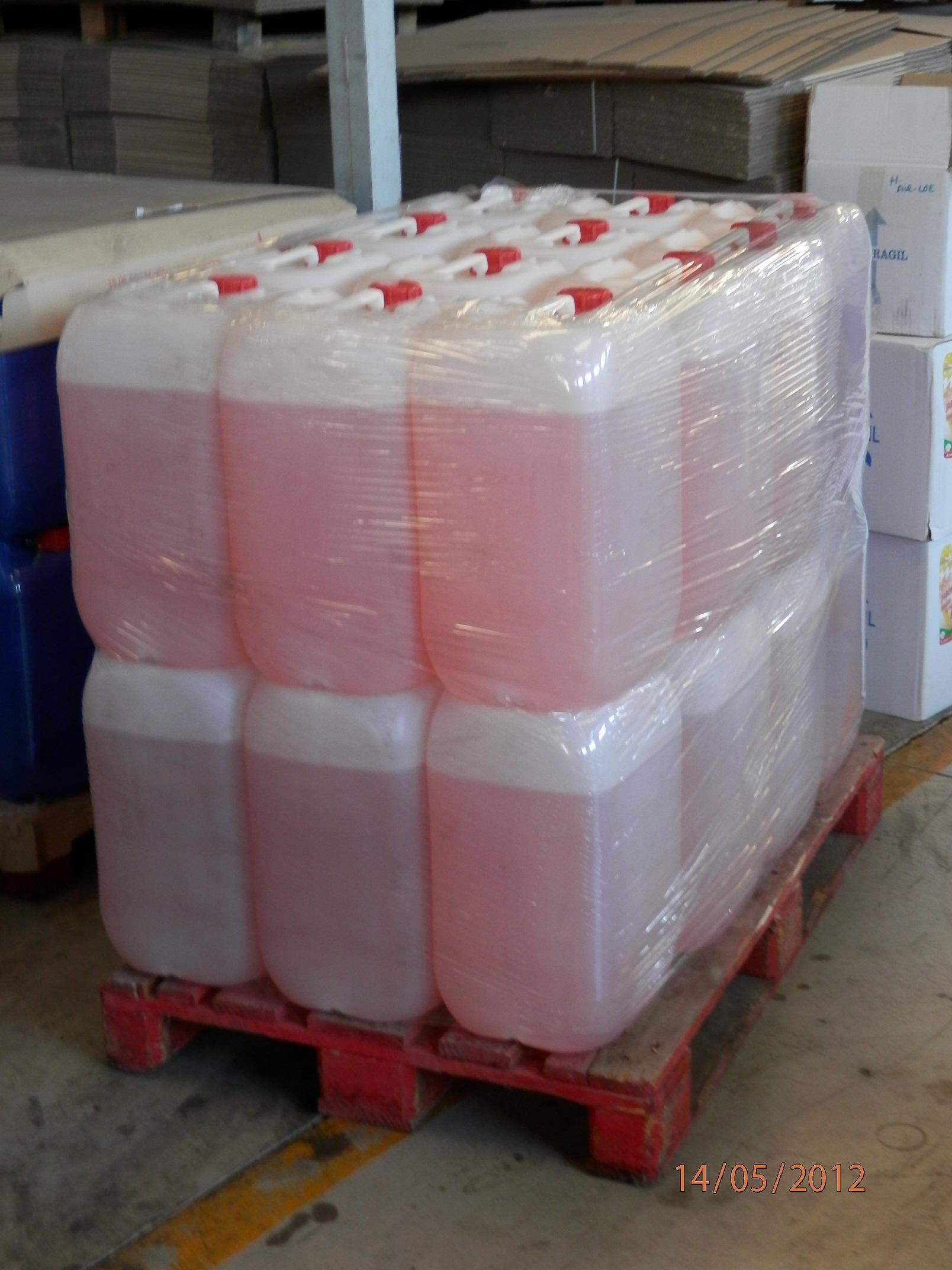 5 Garrafas Líquido Espumógeno 125  litros