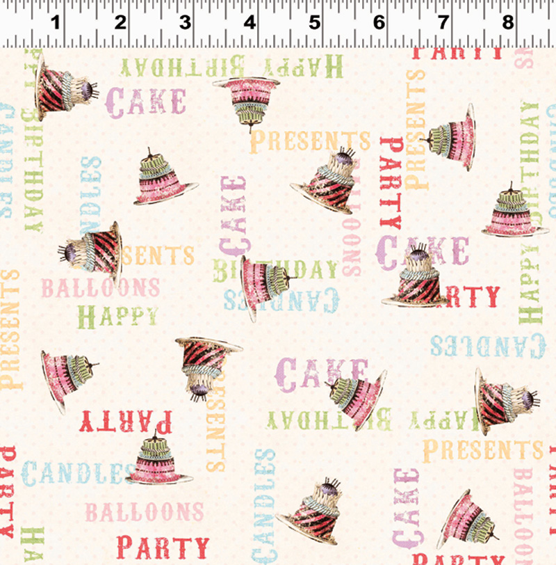 Hullaboo Cream Party Fabric