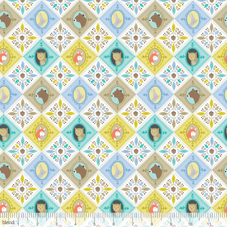 Born Wild  Blue Patchwork