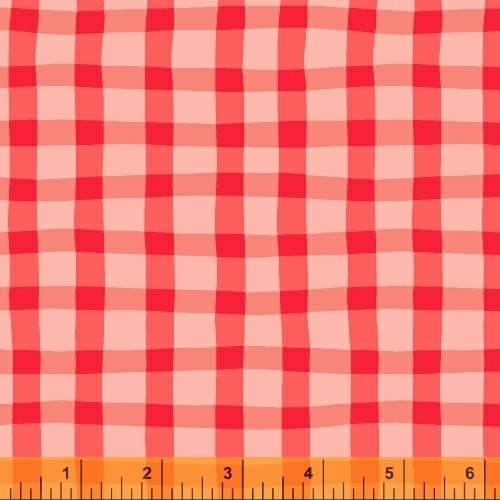 Animal ABC's Red Gingham Print