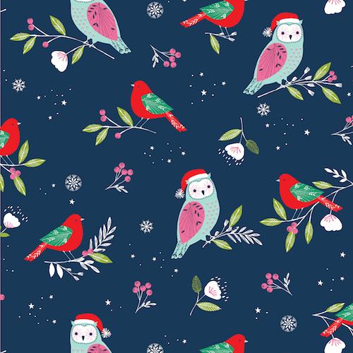 Winter Wonderland - Navy Owls