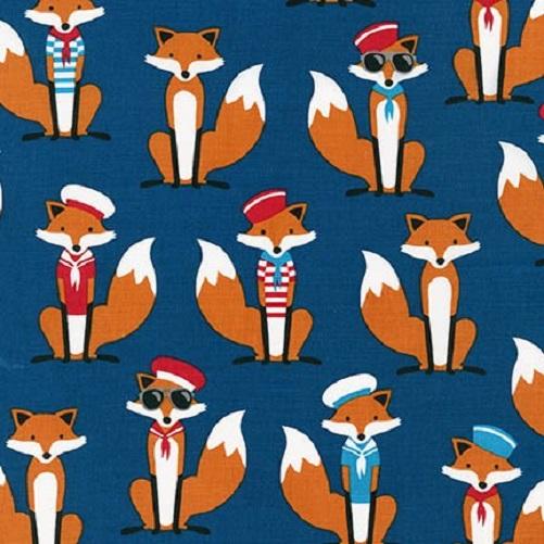 Fabulous Foxes Nautical Navy