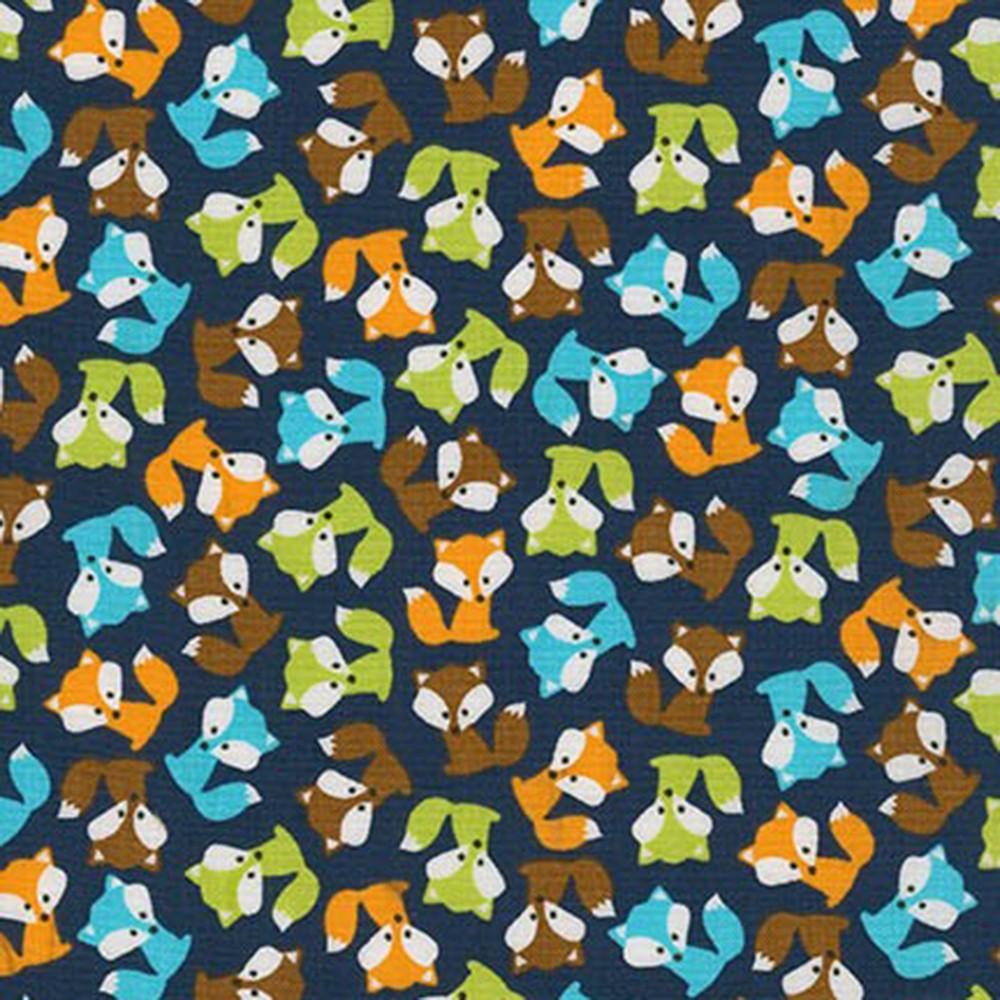 Urban Zoologie Mini Foxes Navy Blue