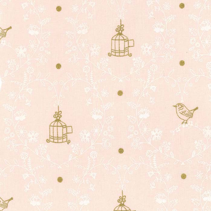 Michael Miller - Wee Sparkle - Free Bird - Pink