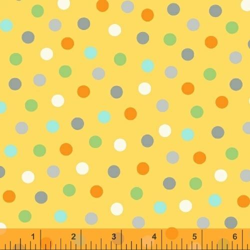 Animal ABC's Yellow Spots Print