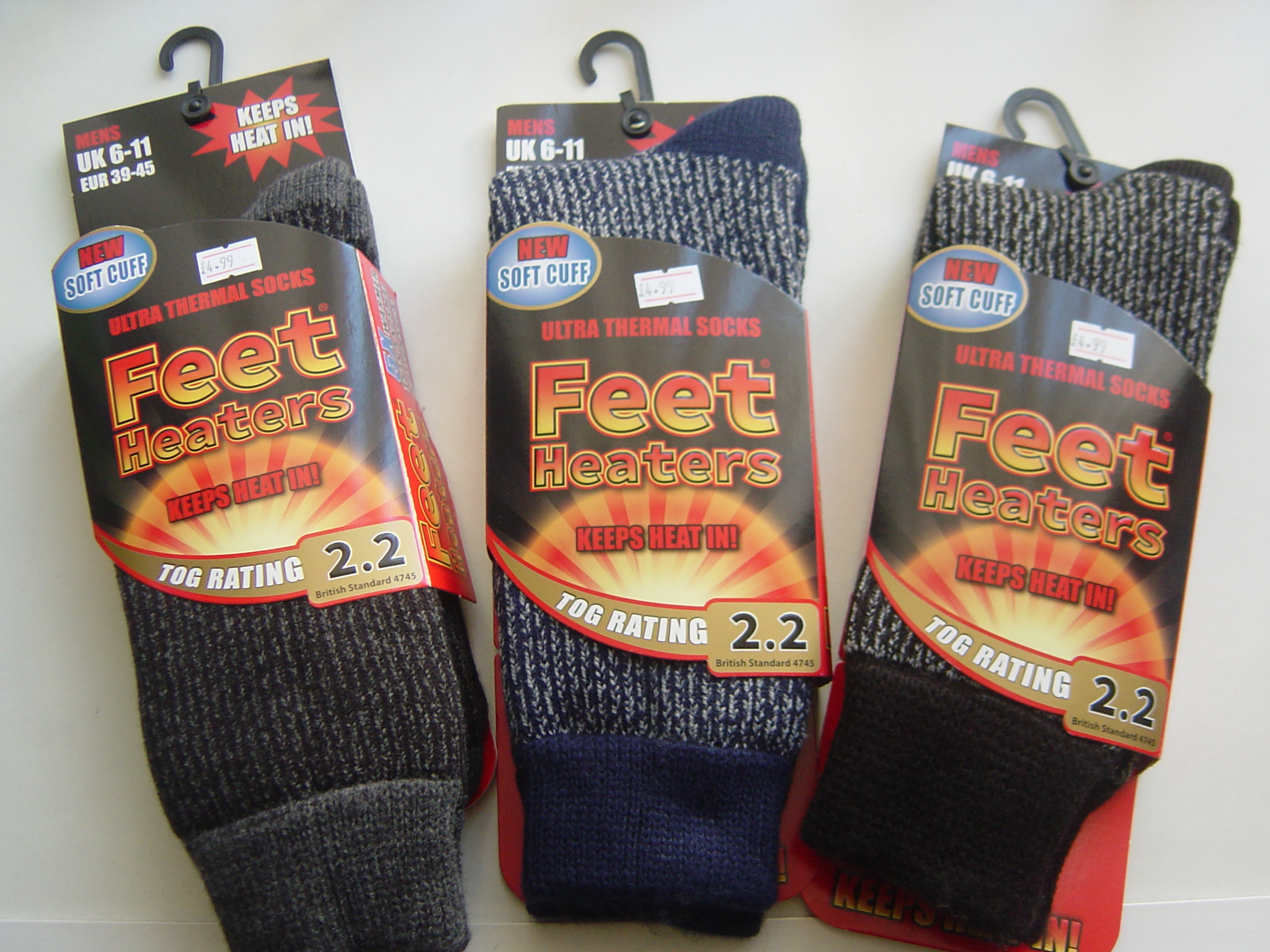 MENS THERMAL HEAT CONTROL SOCKS x 1 Pair
