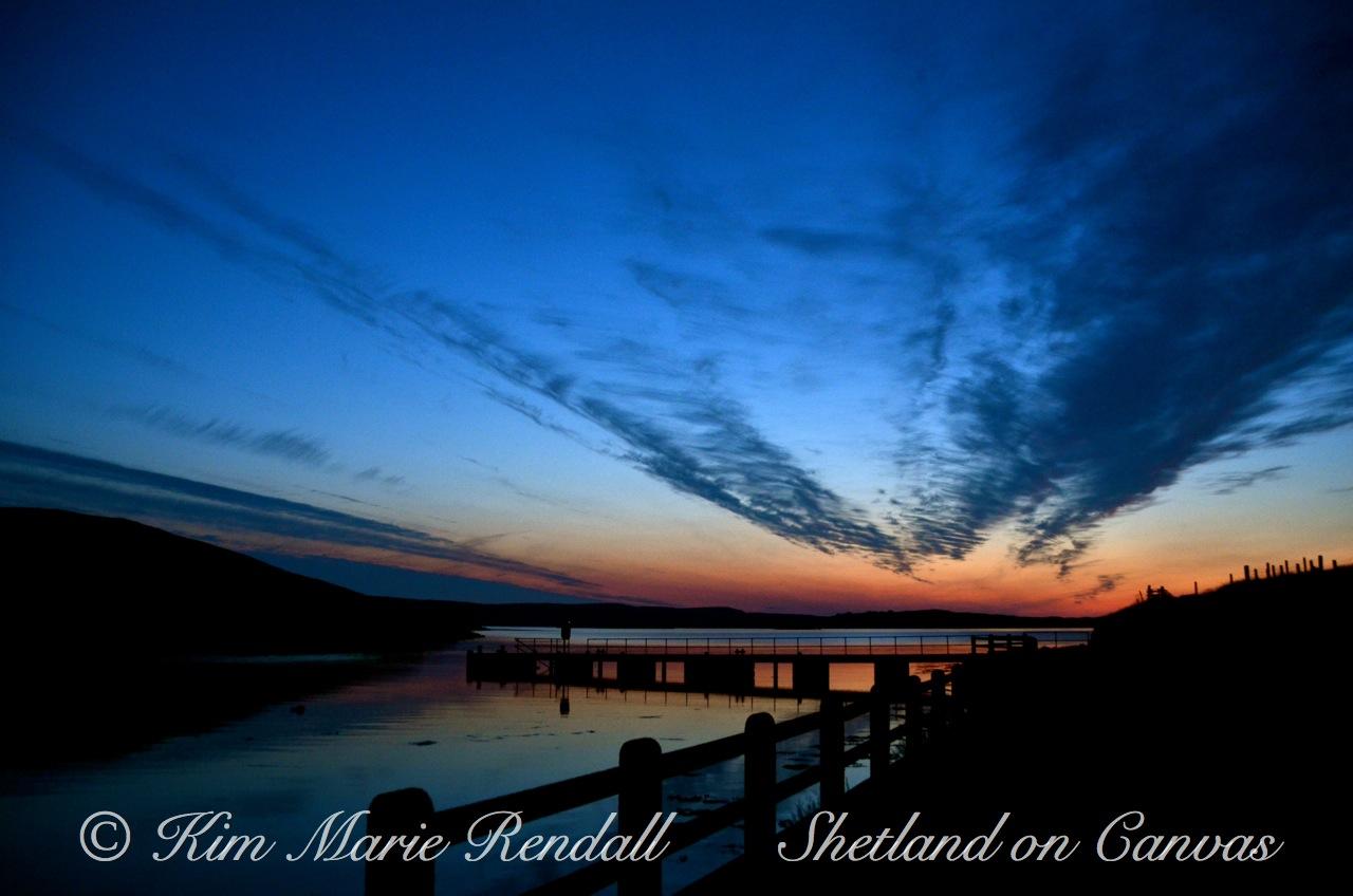 Mid Summer Sunset at Billister Pier