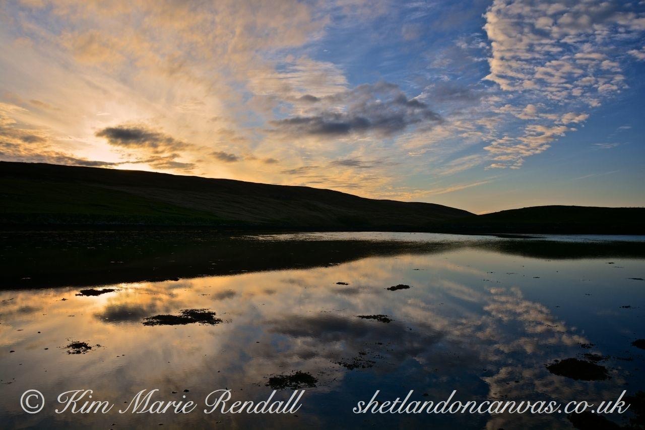 Blue and Gold Sunset over Billister Vaddle