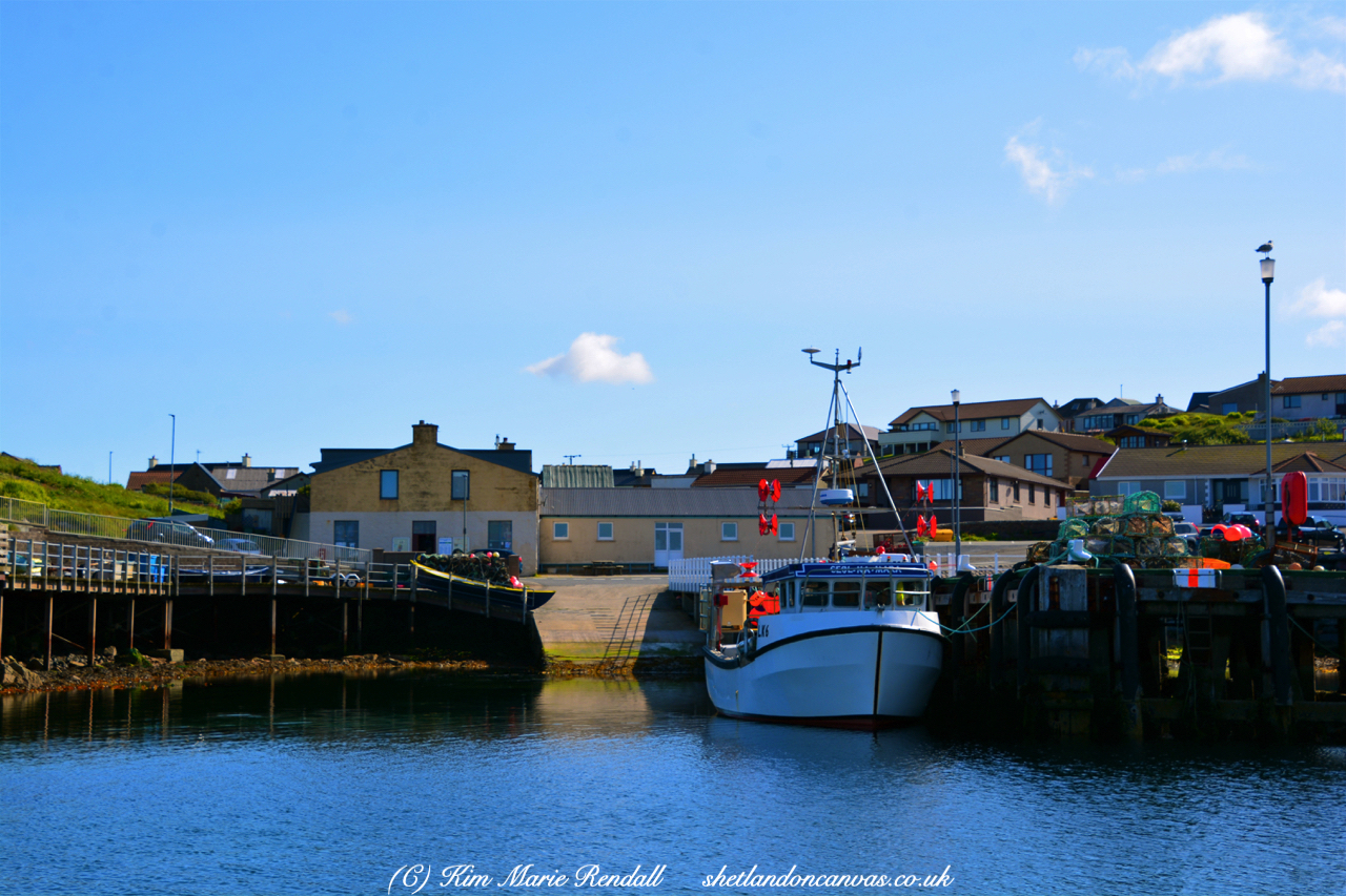 Boats at Hamnavoe Pier, Burra Isle
