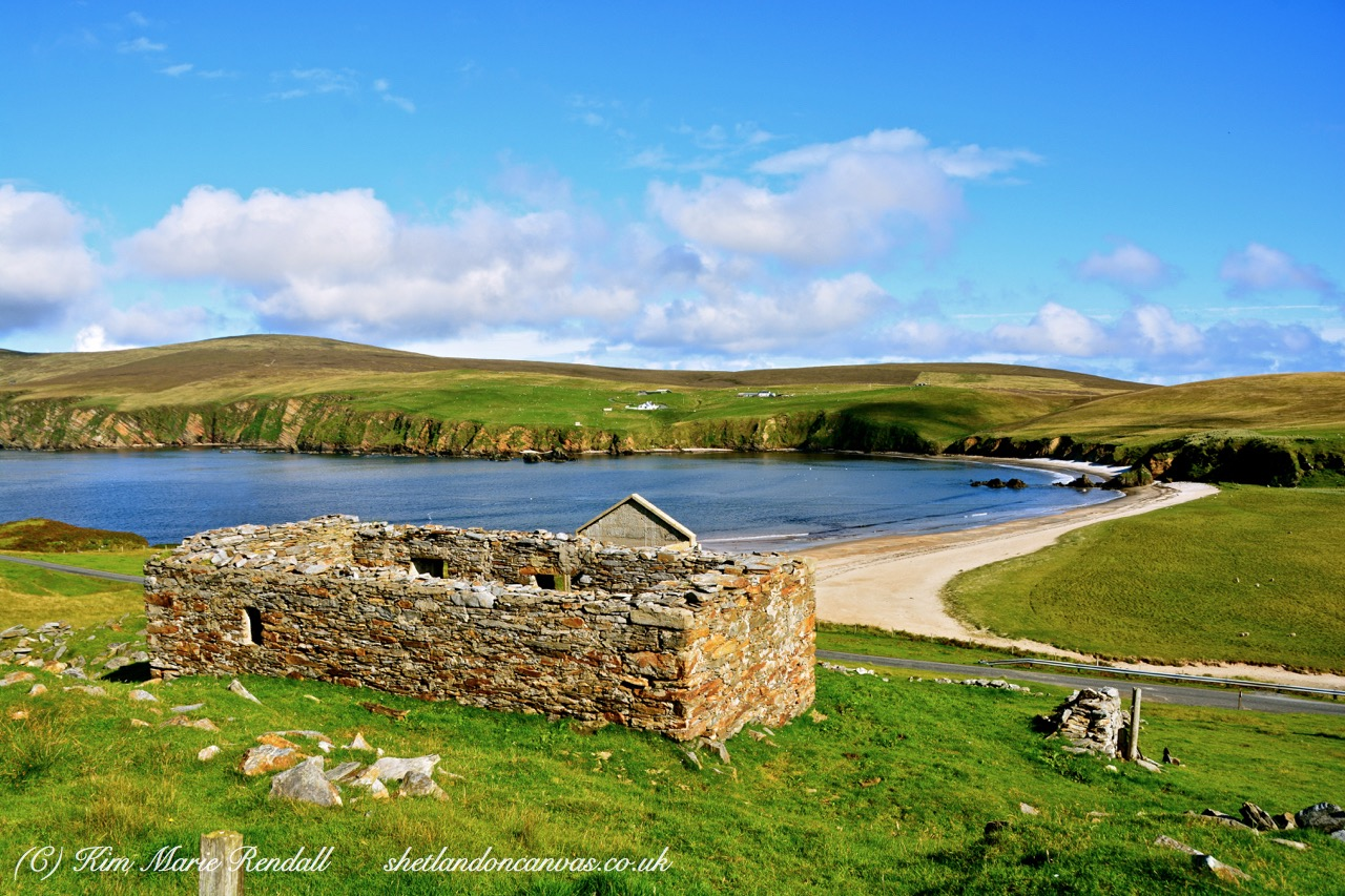 Croft Hoose View at Burrafirth, Unst (1)