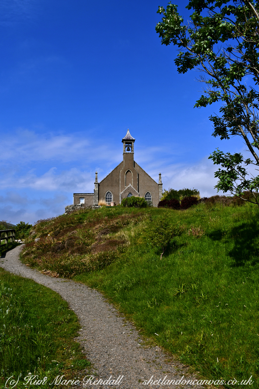 Summer's Day at Weisdale Kirk