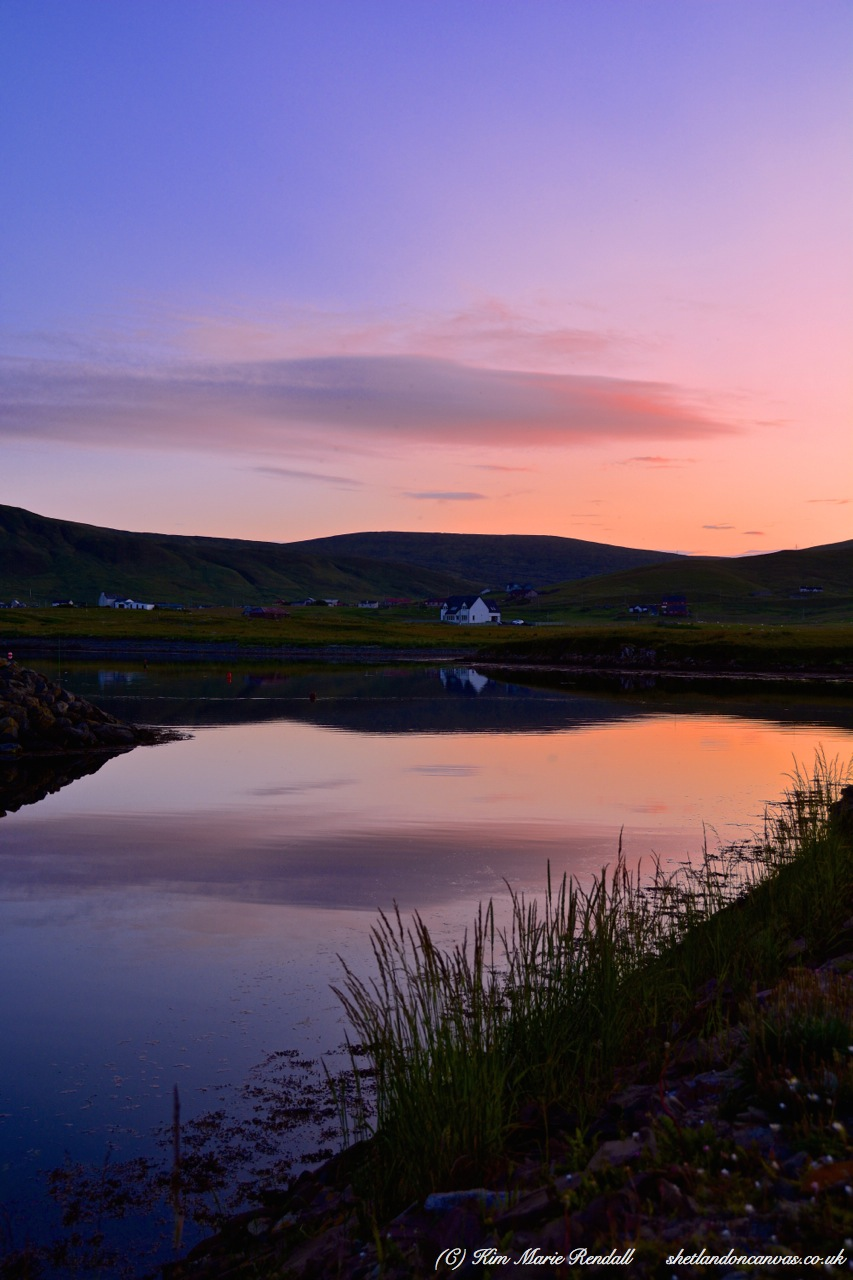 Sunset at Aithsvoe, Cunningsburgh