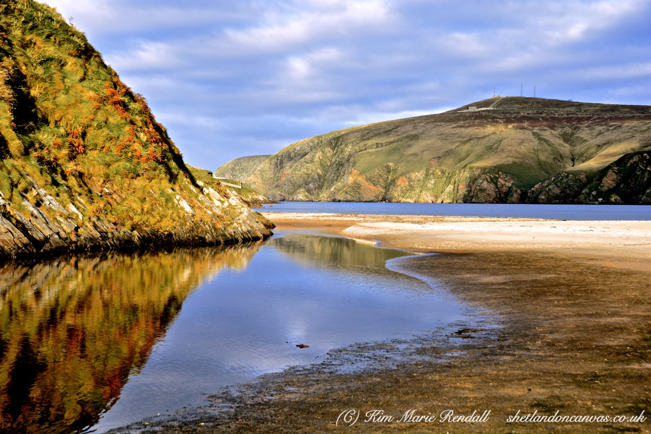 Calm Reflection at Burrafirth Beach Burn 1