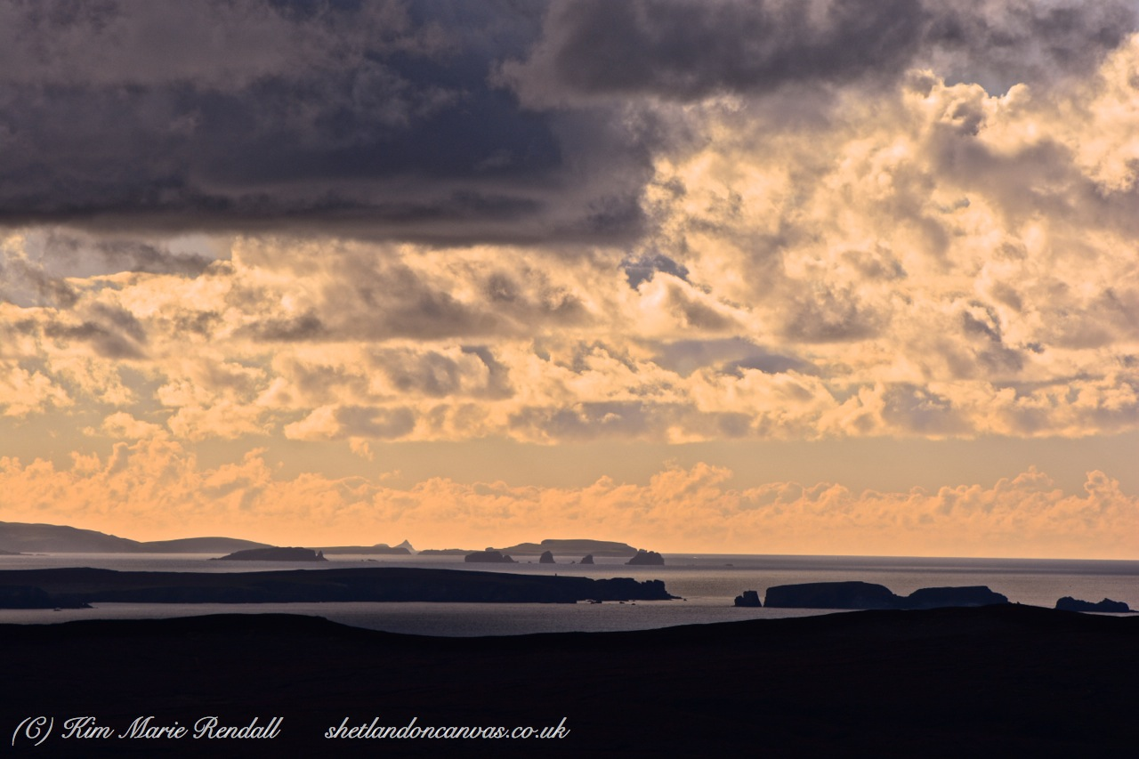 A view of Eshaness from Unst