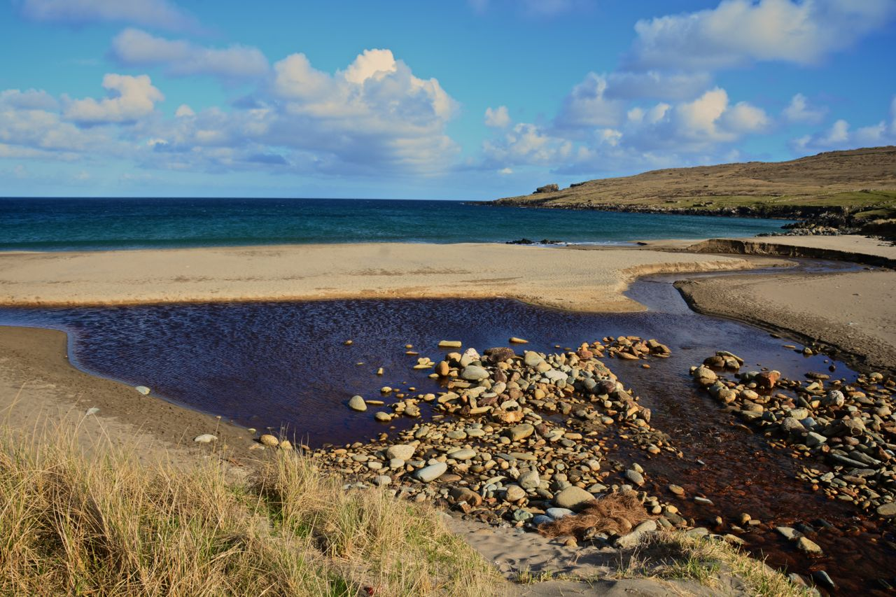 Shades of Blue and Gold at Norwick, Unst