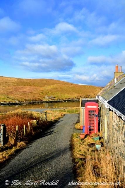 Traditional Shetland Scene at Billister, North Nesting