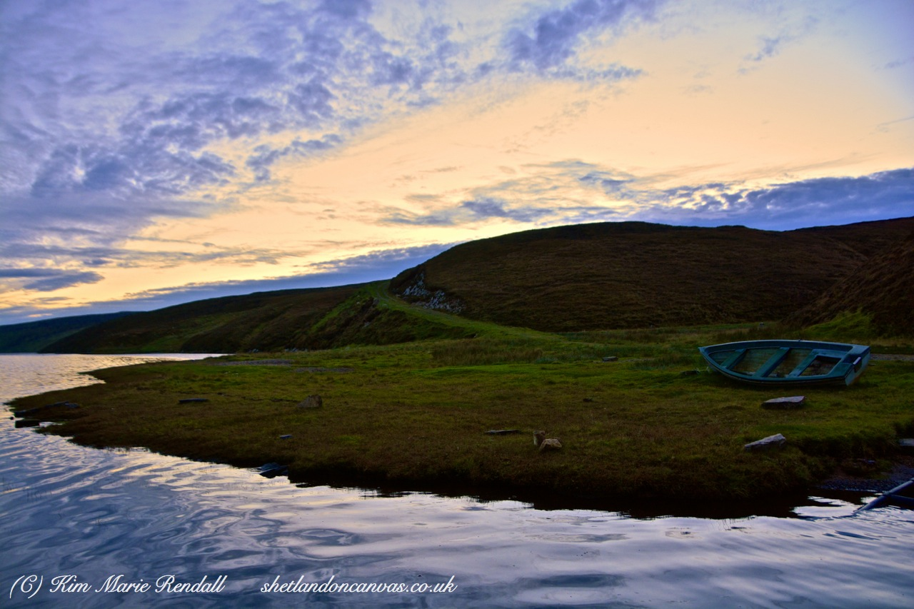 Dusk at Loch of Cliff, Unst
