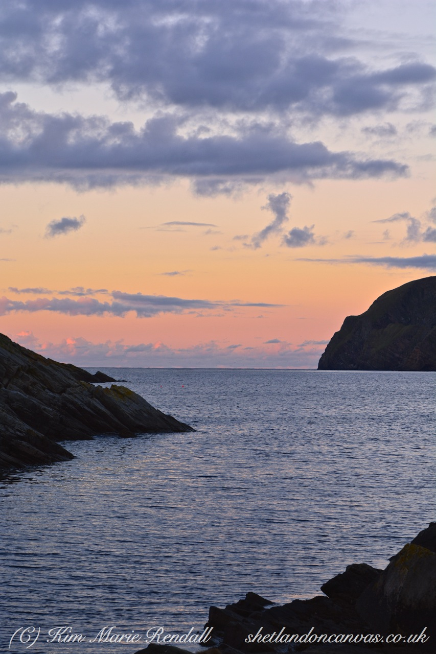 Sunset at Burrafirth, Unst