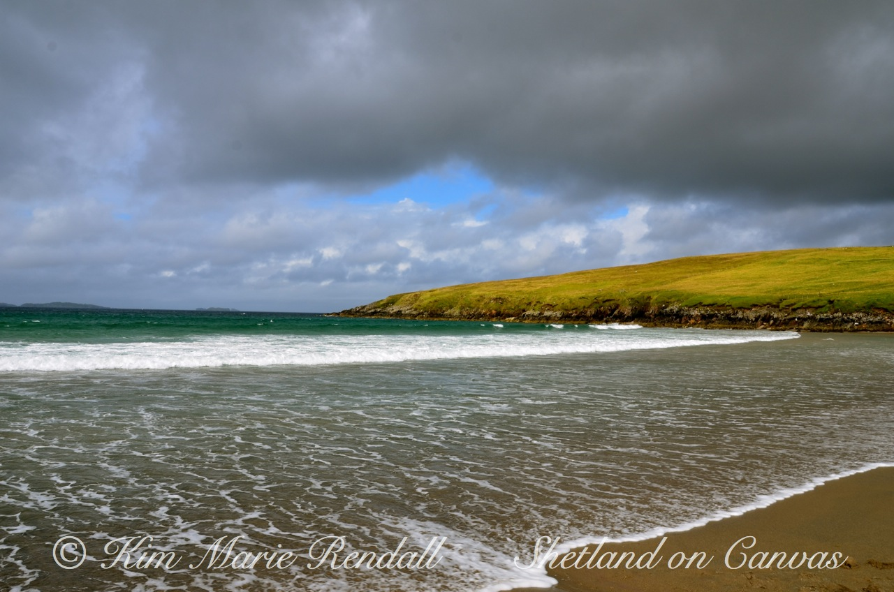Stormy Summers Day at West Sandwick Beach, Yell (2)