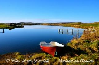 Boat at Benston Loch, South Nesting (2)