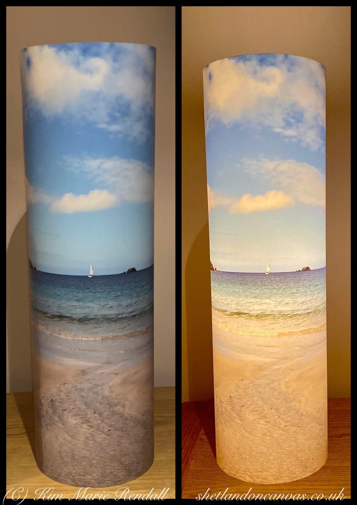 Shetland on Canvas Lamp