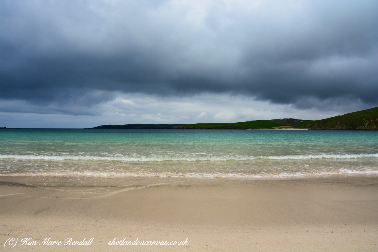 Storm Clouds Gather at Scousburgh Sands