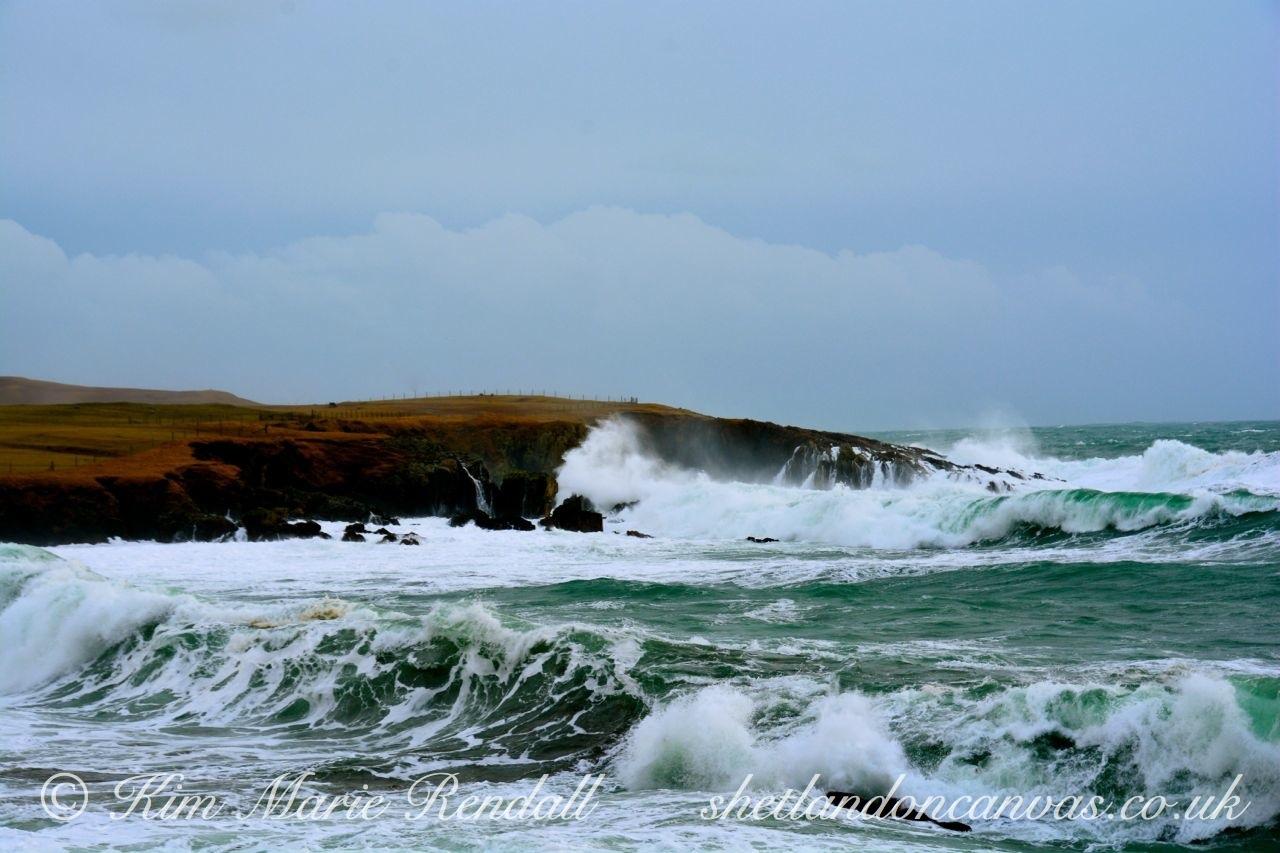 Windswept Day at Kirkabister