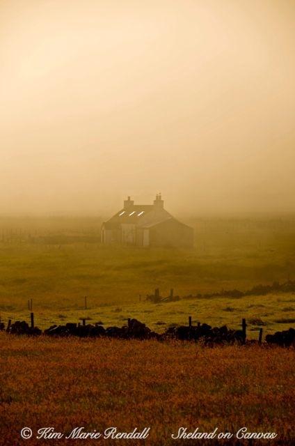 Dale Cottage in the Mist, Baltasound, Unst