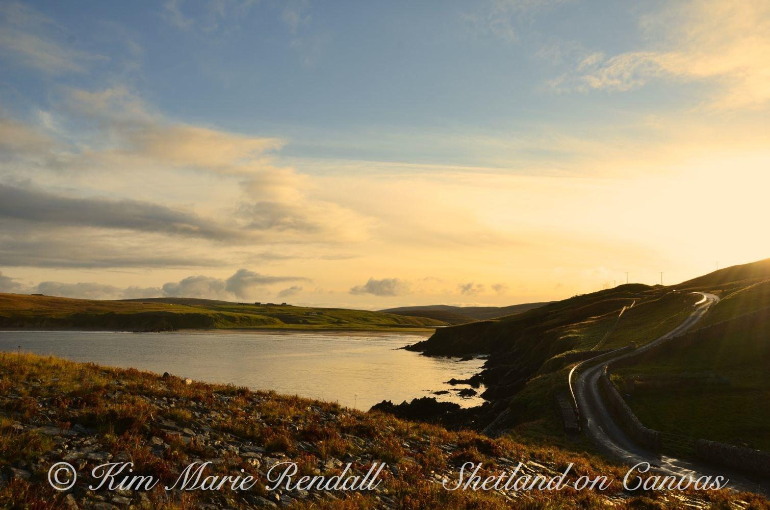 Evening Light at Burrafith, Unst