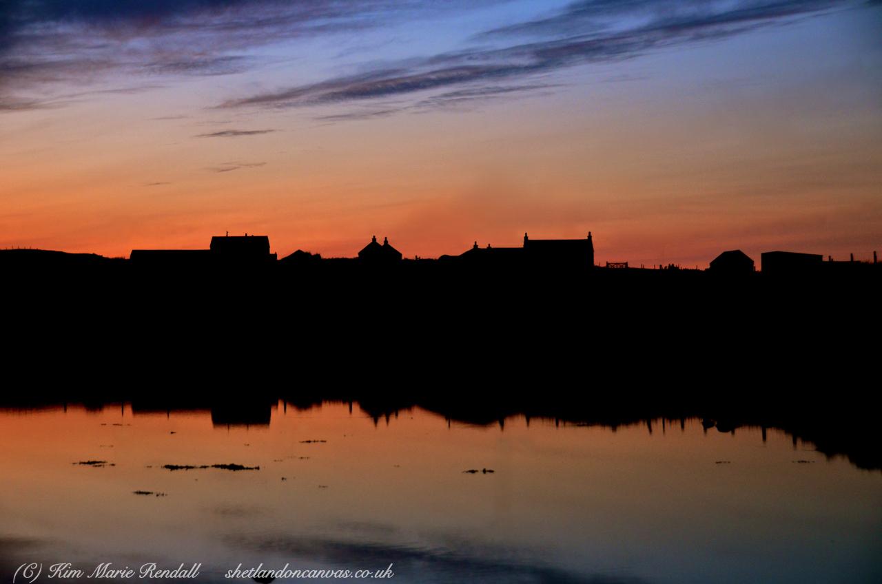 Sunset Silhouette at Billister, North Nesting