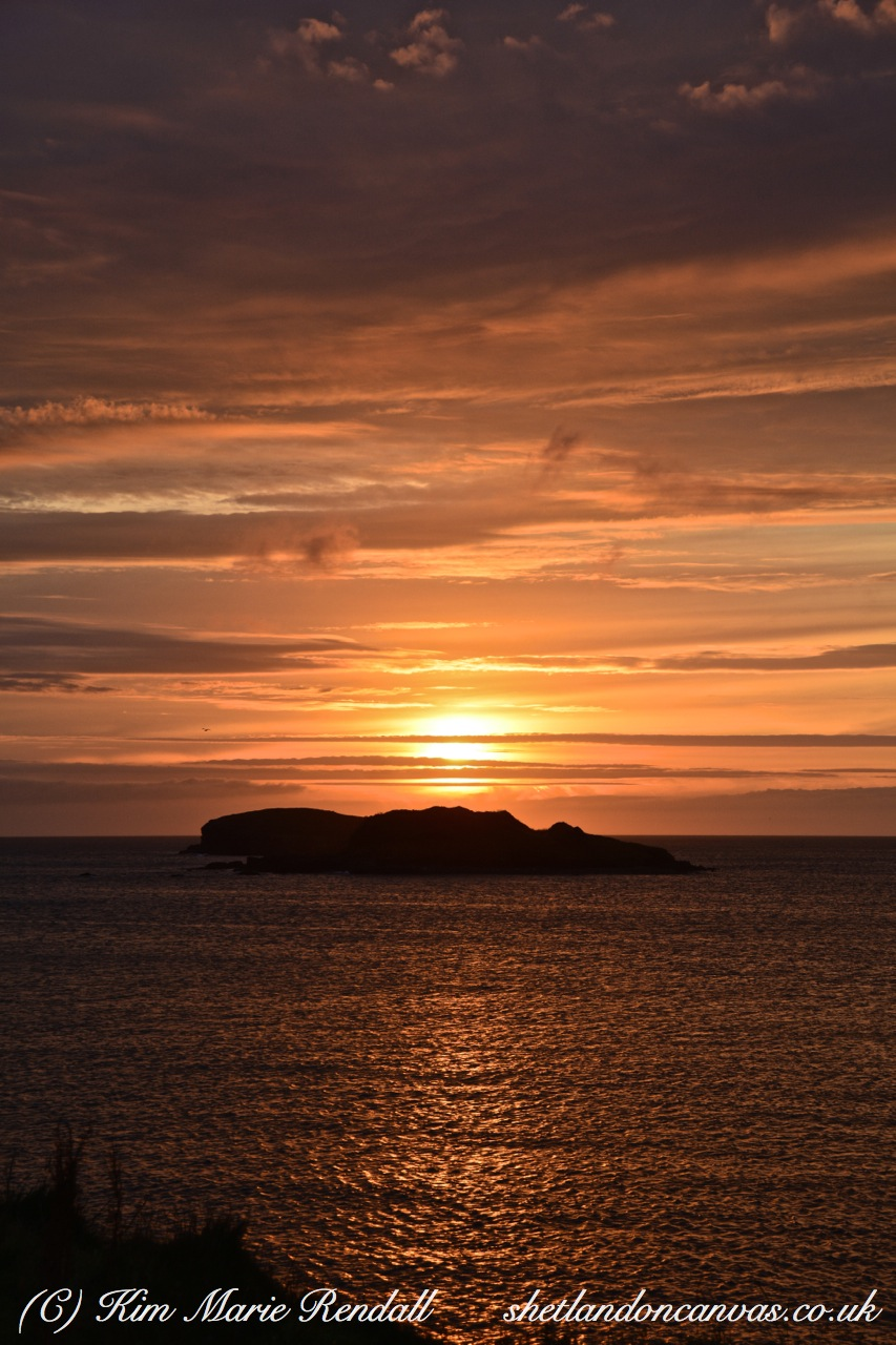 Sunset over Westing Holms, Unst (1)