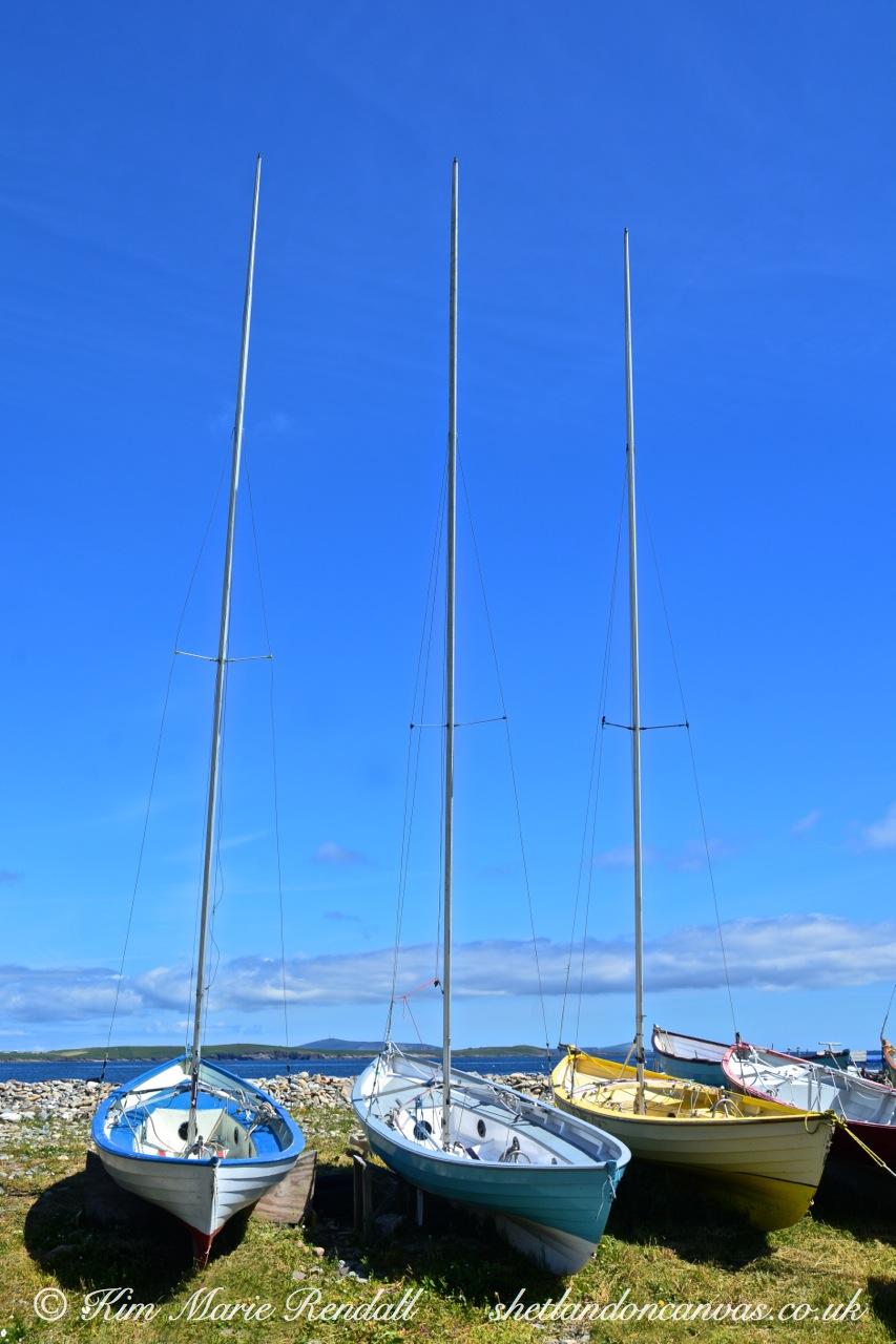 Shetland Sailing Boats at Leebitton, Sandwick