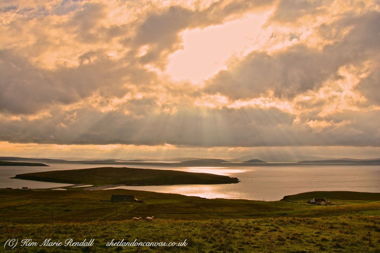 Rays of Light over Ness of Sound, West Yell