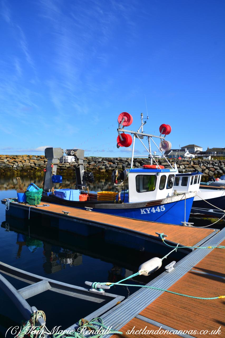 Boats at Hamnavoe Marina, Burra Isle (1)