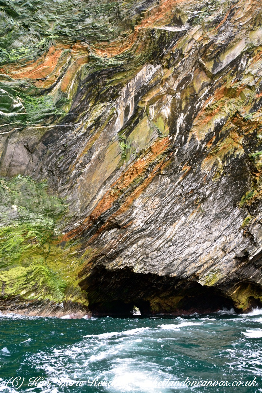Cliff Colours and Formations, Burrafirth, Unst