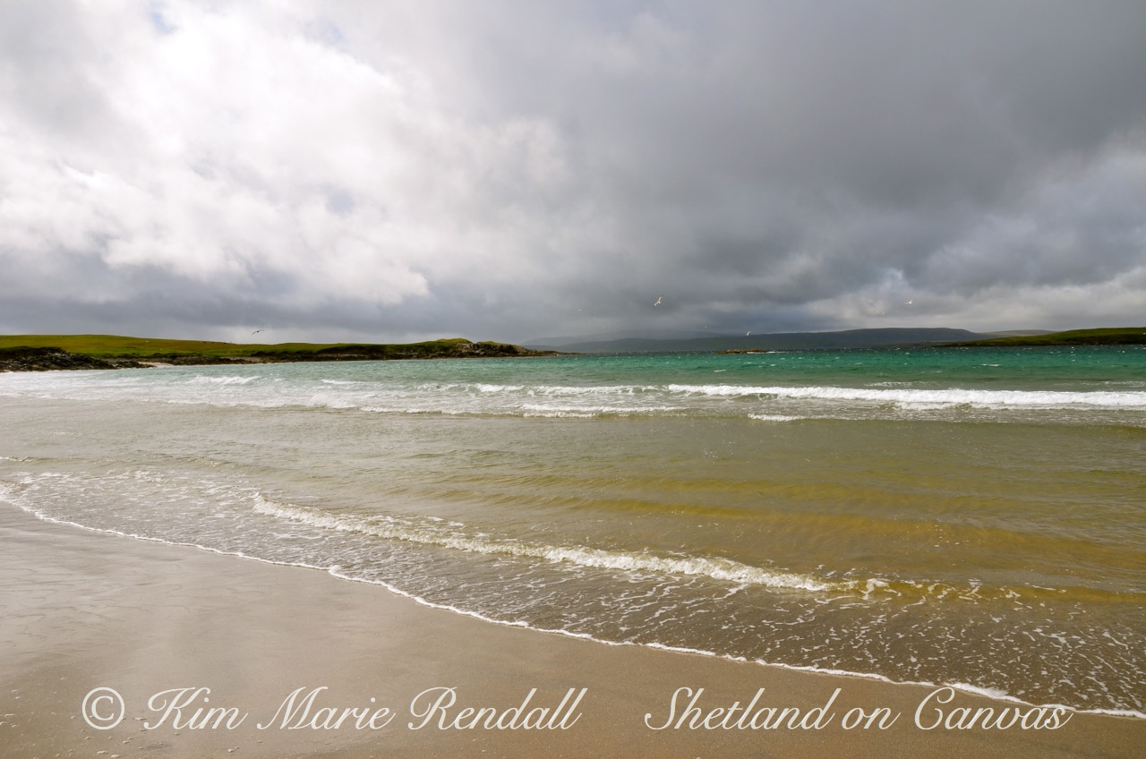 Stormy Summers Day at West Sandwick Beach, Yell (1)