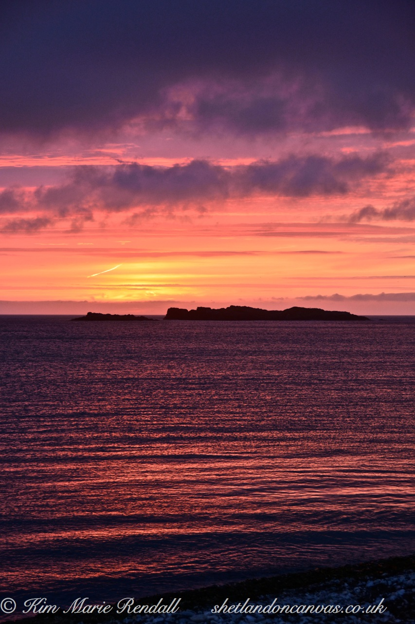 Sunset over Westing Holms, Unst (2)