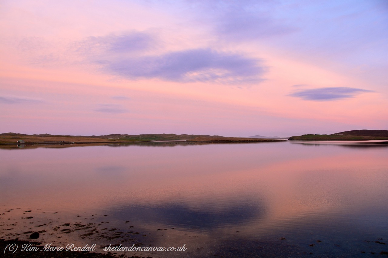 Sunset Reflections at Catfirth, South Nesting