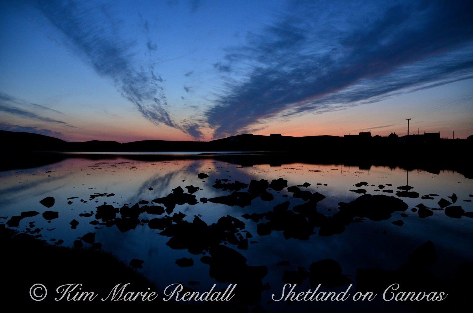 Sunset over Billister Vaddle