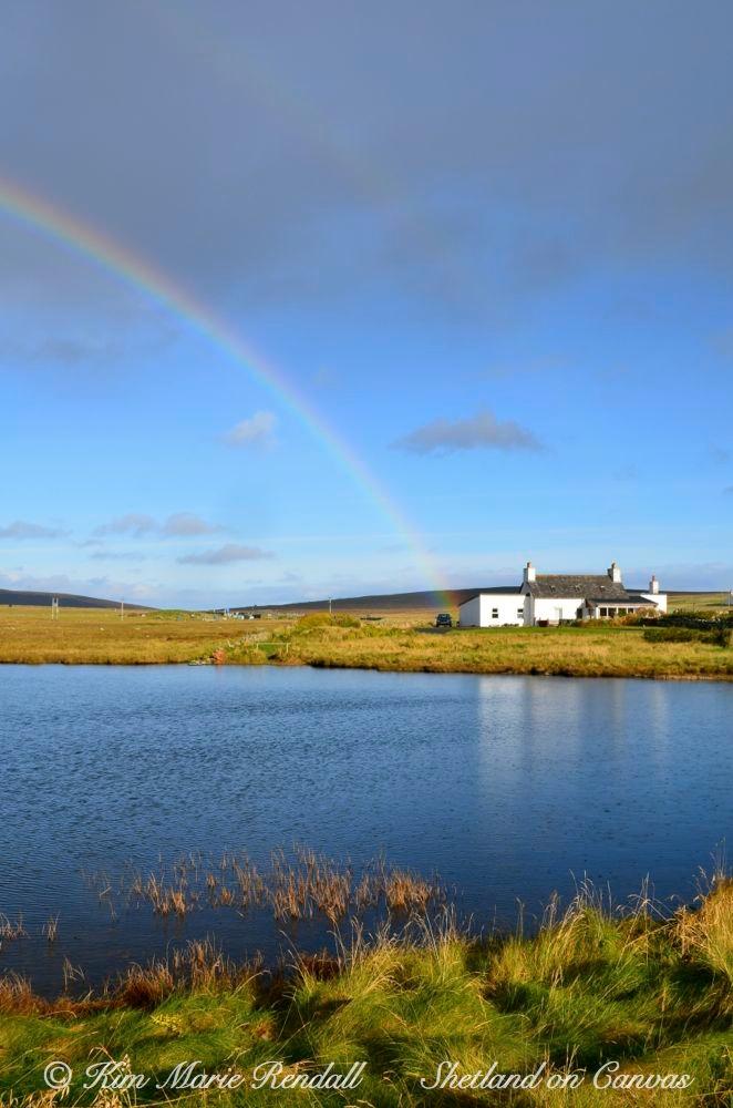 Rainbow at Uyeasound, Unst