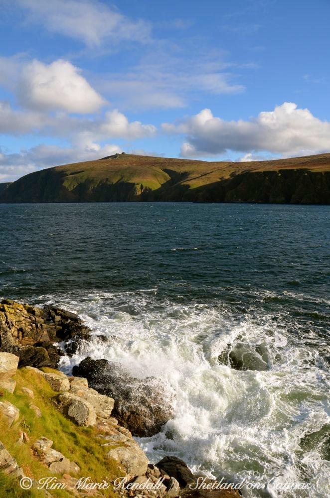 Waves Crashing on Rocks at Burrafirth, Unst